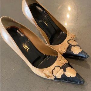 Chanel camellia heels